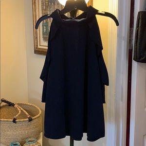 NY&CO Dark Blue Cold Shoulder Blouse